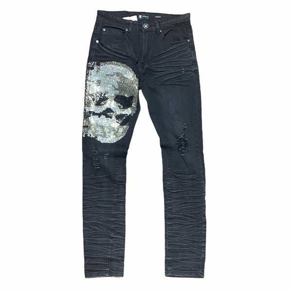 Waimea Skull Denim Jean (Black Wash) M5017D