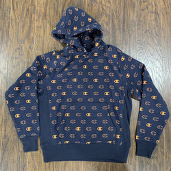 CHAMPION HOODIE C LOGO SPACE NAVY