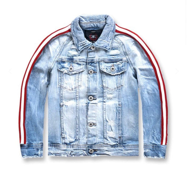 Kids Jordan Craig  Grand Prix Striped Jacket (Ice Blue )