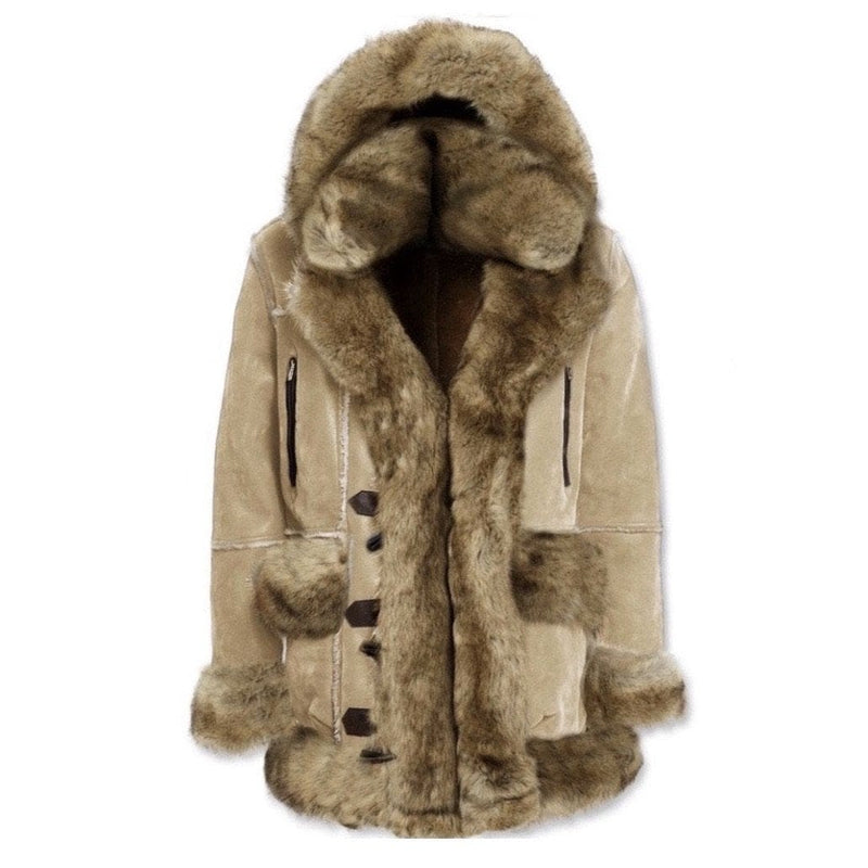 JUNIORS JORDAN CRAIG ASPEN SHEARLING JACKET (LATTE)