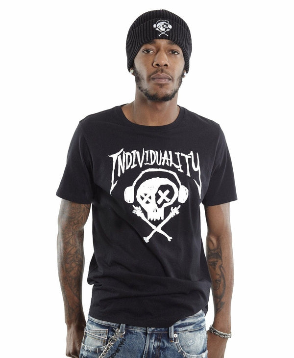 CULT OF INDIVIDUALITY T-SHIRT BLACK/WHITE