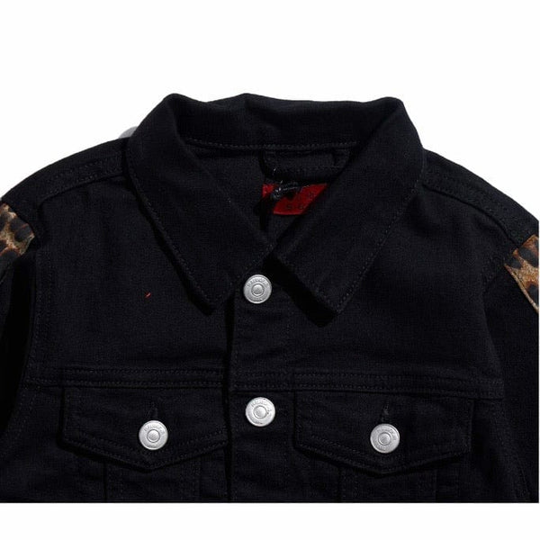 Haus Of Jr Kids Marcos Denim Jacket (Black Cheetah) HOJFA20-202