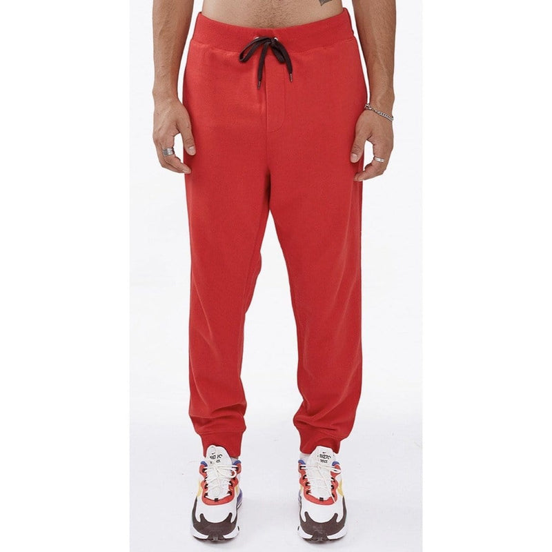 CULT OF INDIVIDUALITY BASIC STRIPE SWEAT PANTS RED