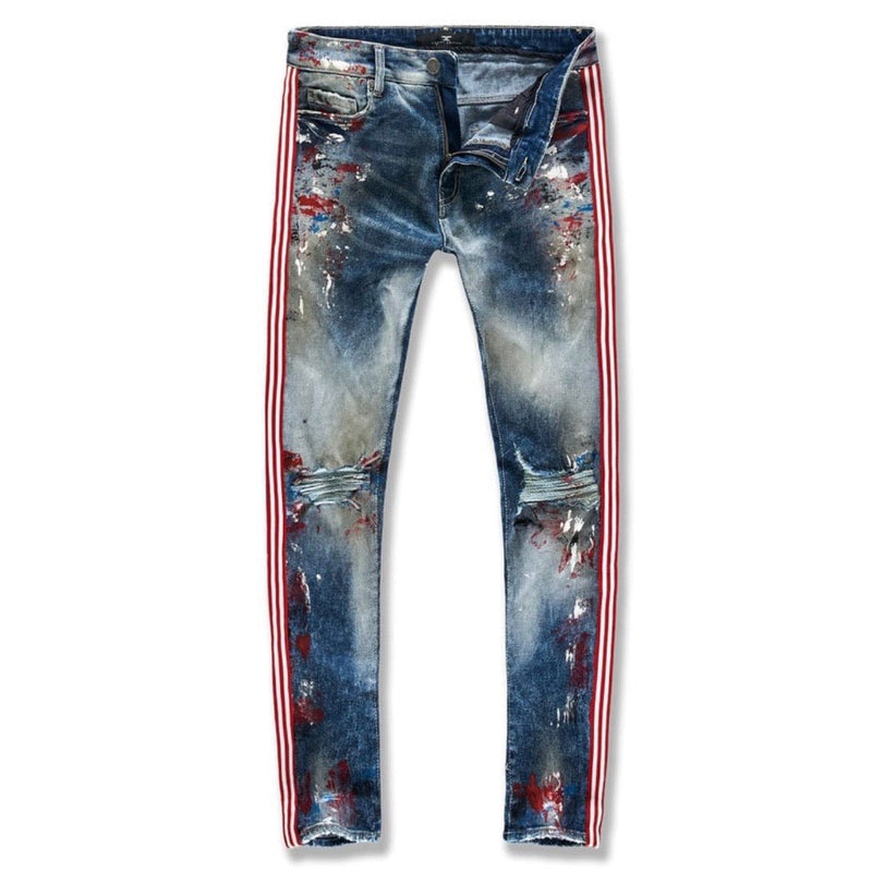Jordan Craig Sean Talladega Striped Denim Jeans (South Beach) JM3419