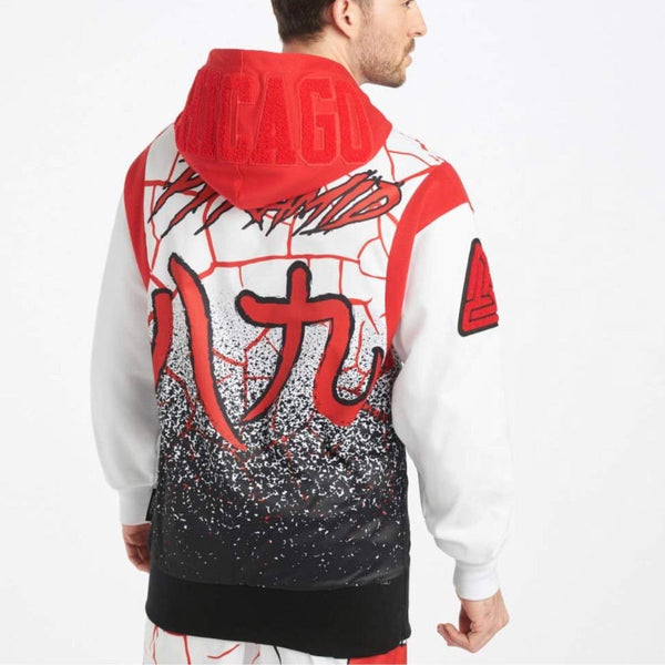 Black Pyramid Chicago Bulls Logo Hoodie (White) Y5162351-WHT