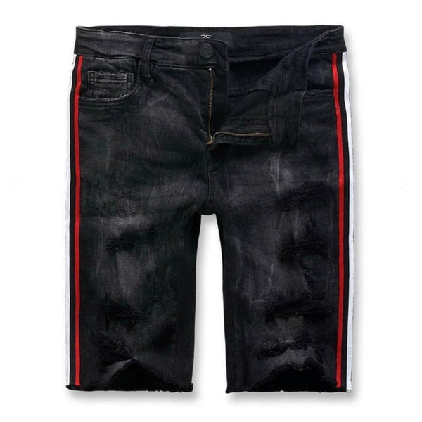Jordan Craig Daytona Striped Denim Short (Black Shadow)