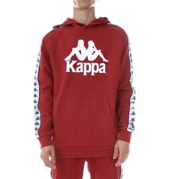 Kappa 222 Banda Deniss Reflective Hoodie Red/Grey