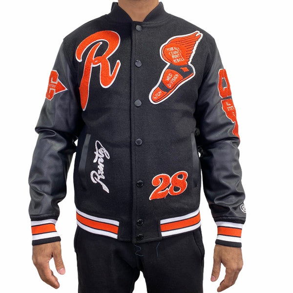 Runtz All County Varsity Jacket (Black) 37345