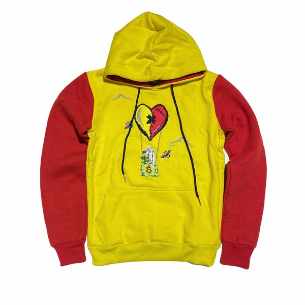 Retro Label 5s What The Air Hoodie (Yellow/Red)