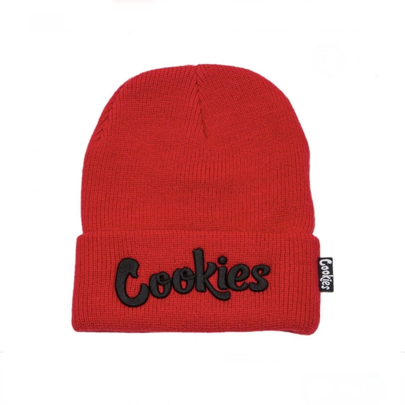 COOKIES KNIT BEANIE ORIGINAL MINT RED/BLK