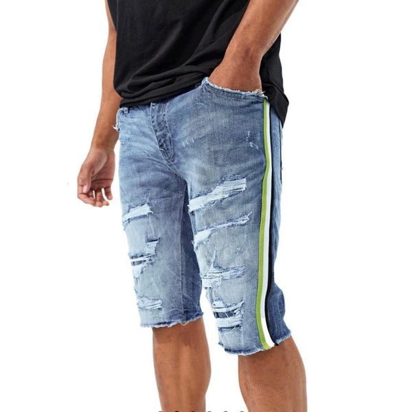 Jordan Craig Daytona Striped Denim Shorts (Studio Blue)