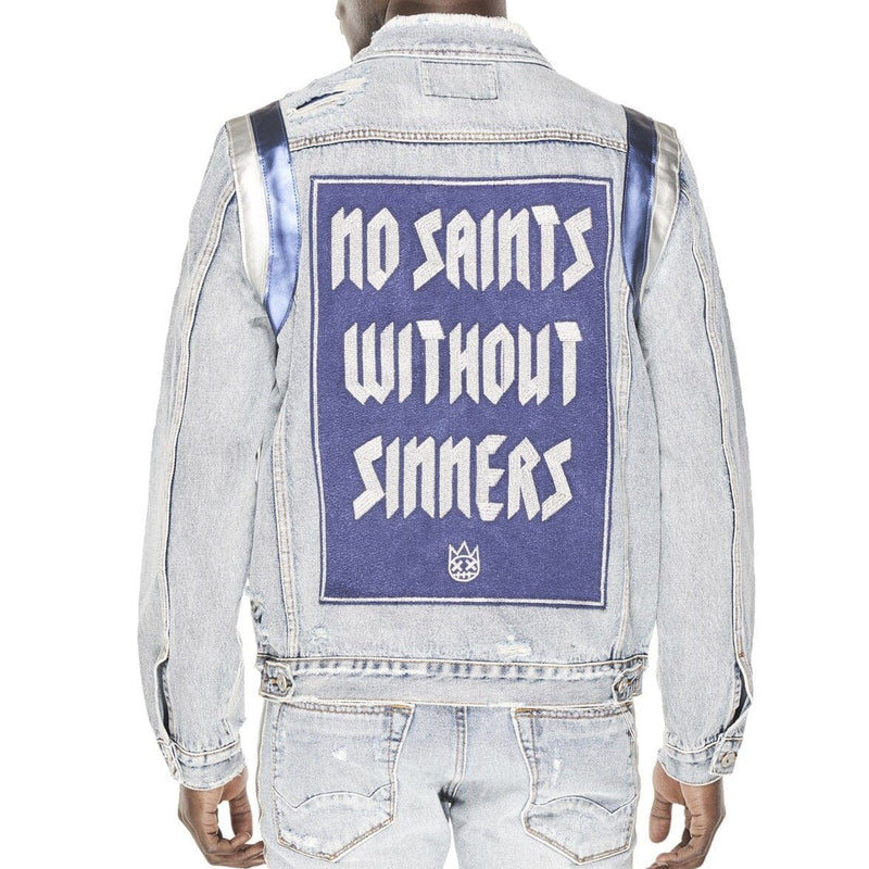 CULT SAINTS AND SINNERS JACKET LIGHT STONE
