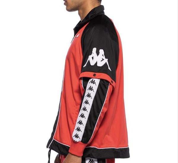 KAPPA 222 BANDA BIG BAY RED/BLACK/WHITE JACKET - 3031D20