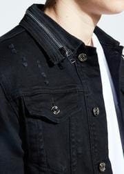 EMBELLISH PARKER DENIM JACKET BLACK EMBSP119-203
