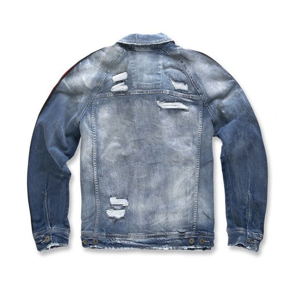 Kids Jordan Craig Jean Jacket Striped Aged Wash