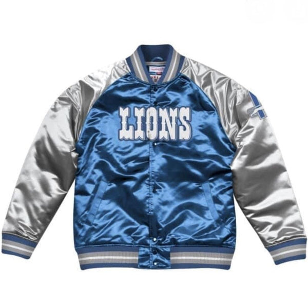 MITCHELL&NESS TOUGH SEASON SATIN JACKET LIONS