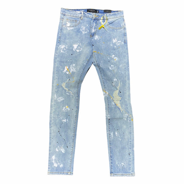Karter Collection Bradley Jeans (Light Blue Paint) KRTR-K087