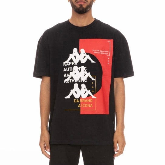 Kappa Authentic HB Etas T Shirt (Black/Red) 3116FJW