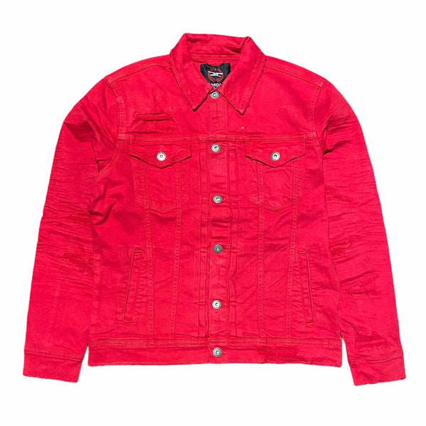 Jordan Craig Aaron Denim Jacket (Red) 91521
