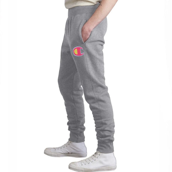 Champion Reverse Weave Sweatpants Grey/Pink