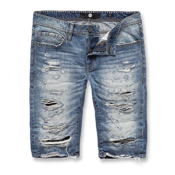 Jordan Craig Belmar Denim Shorts (Mid Blue)