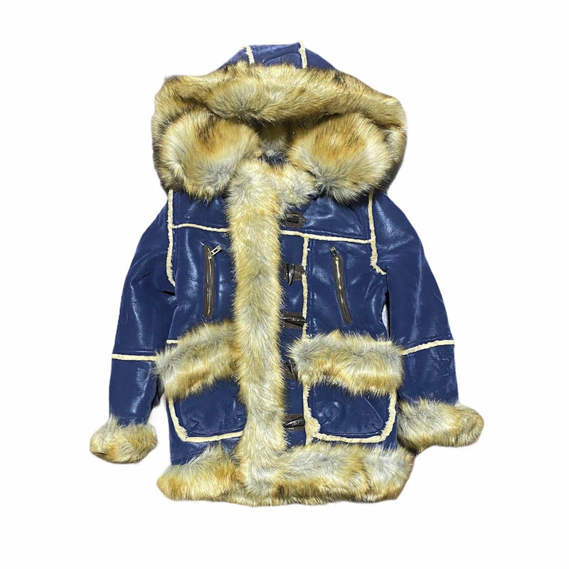 Juniors Jordan Craig Aspen Shearling Jacket (Midnight Blue)
