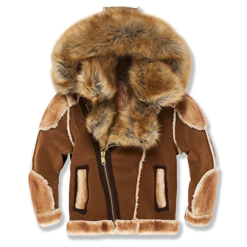 Junior Jordan Craig El Jefe Shearling Moto Jacket (Walnut) 91518B