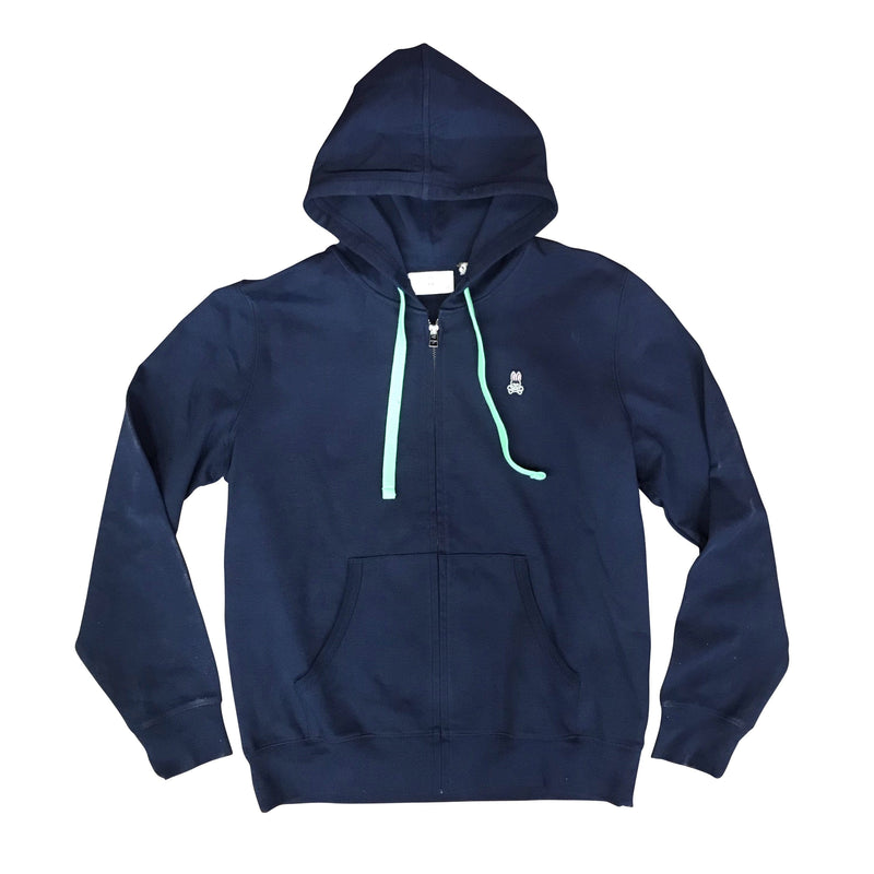 PSYCHO BUNNY THE REDFORD ZIP UP HOODIE - NAVY B6S715A1PB