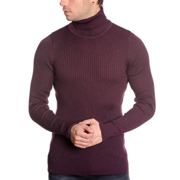 LCR Black Edition Turtleneck Sweater (Burgundy) 1670C