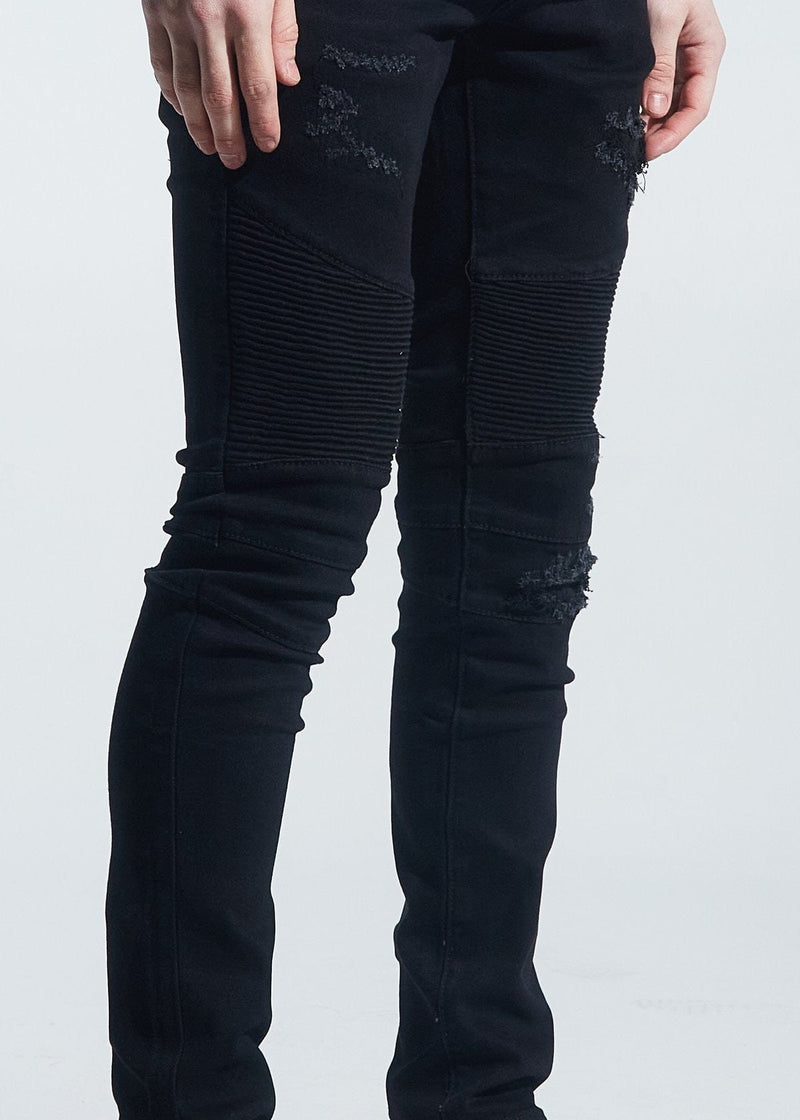 Crysp Jean Black Distressed Sky Walker