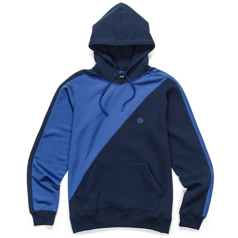 COOKIES HORIZONTAL PIECED HOODIE NAVY