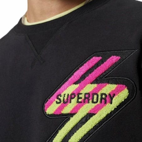 Superdry Sportstyle Energy Crewneck Sweatshirt (Black)