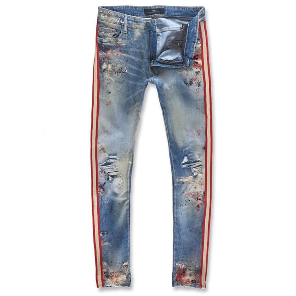 Jordan Craig Sean Talladega Striped Jean (Summer Blue)