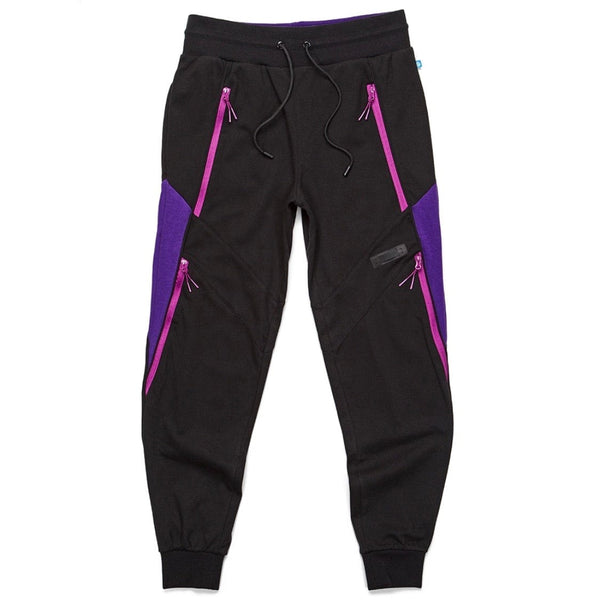 Cookies Sweatpants W/ Rubber Logo Patch (Black/Purple) 1544B4078