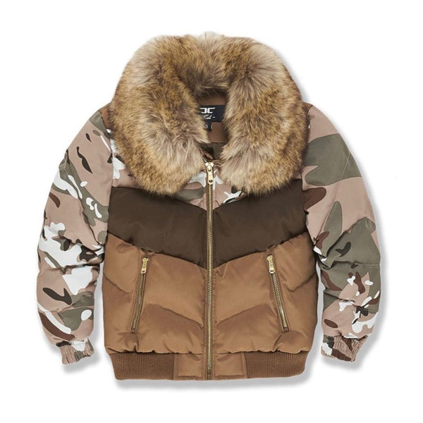 Kids Jordan Craig Sugar Hill Nylon Puffer Jacket (Woodland)
