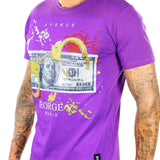 George V Cuff Cash Tee (Purple) GV-2061