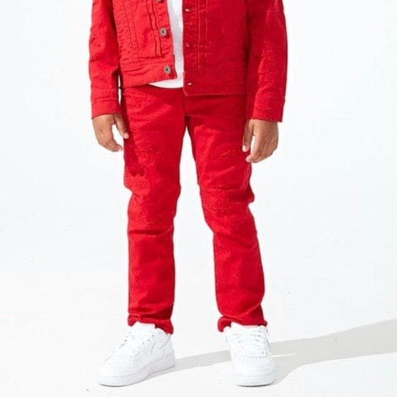 Kids Jordan Tribeca Twill Pants (Red)