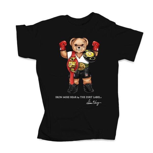 Dirt Label Tyson Bear T Shirt  (Black)