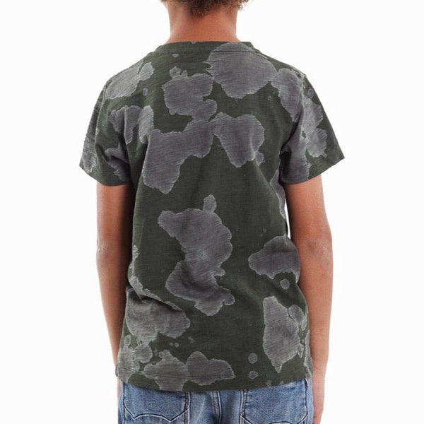 Kid's Cult Shimuchan Flocking Graphic T-Shirt (Green) 88B9-KT05E