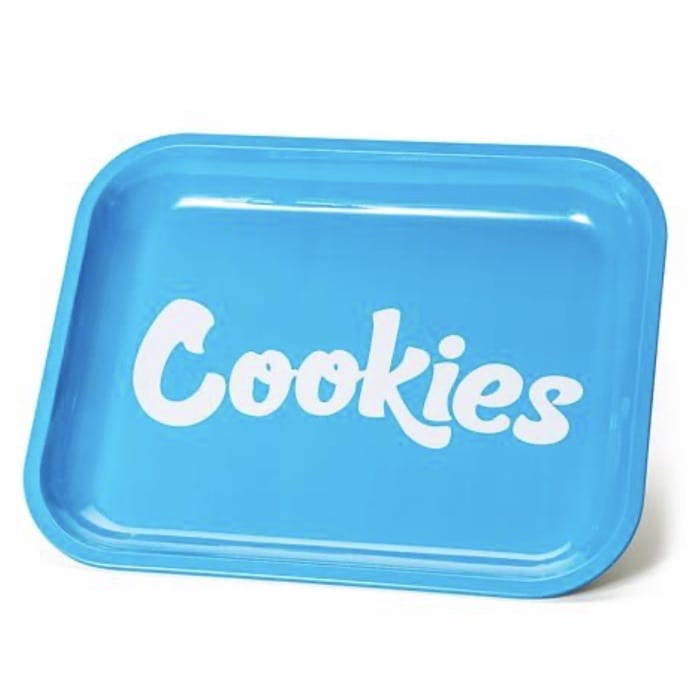 Cookies Large Size Metal Rolling Tray (Blue)