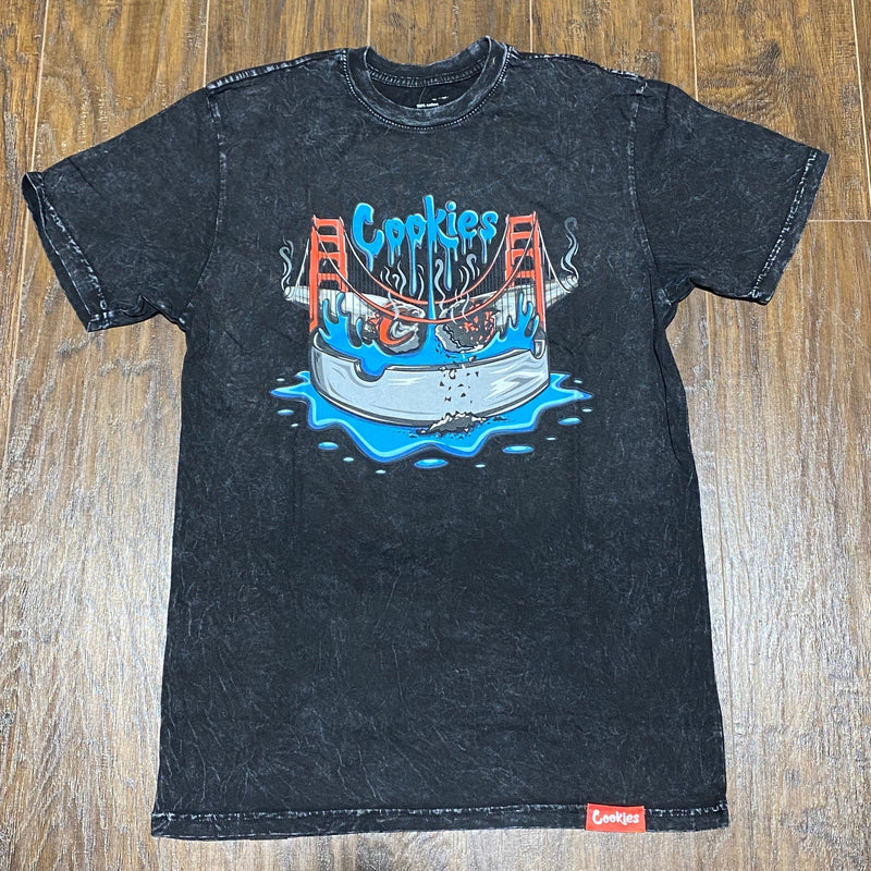 Cookies Double Jointed T Shirt (Washed Black)