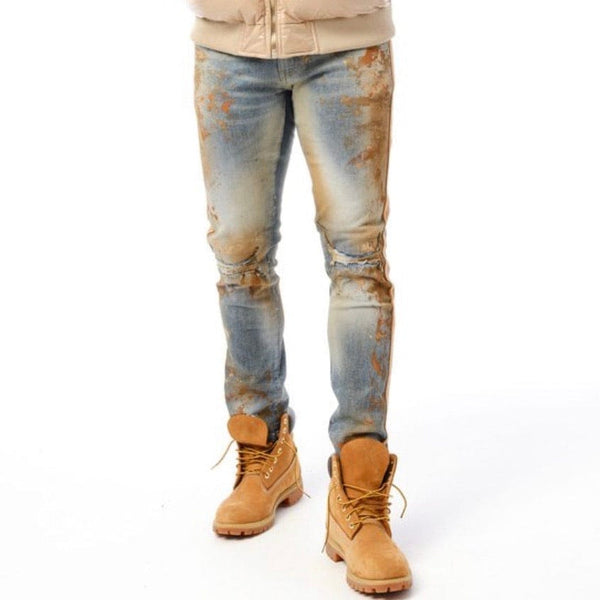 Jordan Craig Sean Sugar Hill Striped Denim (Desert Fox) JM3430