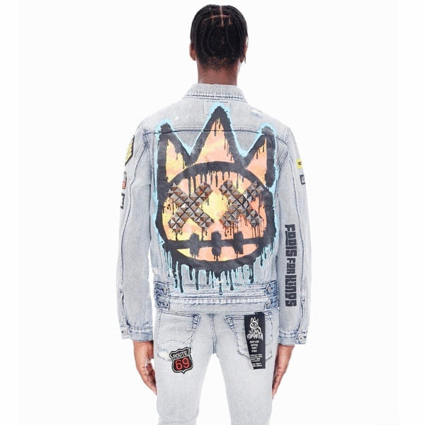 Cult Of Individuality Type IV Denim Jacket (Graffiti) 621A2-TS13B