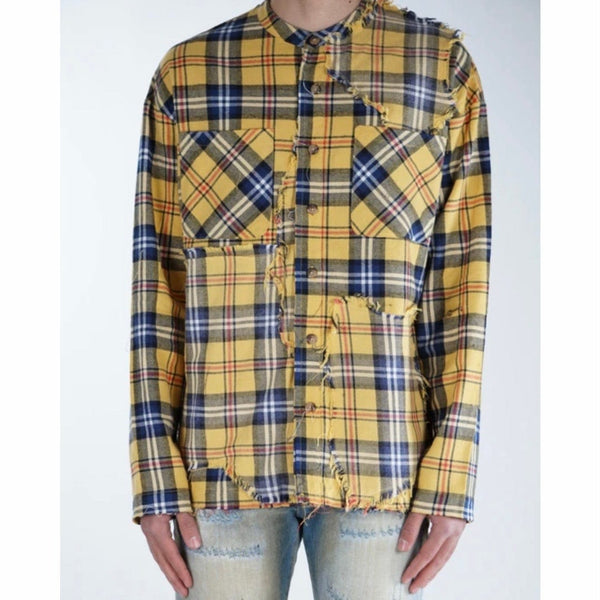 Valabasas Button Down Shark Shirt (Yellow) VLBS2036