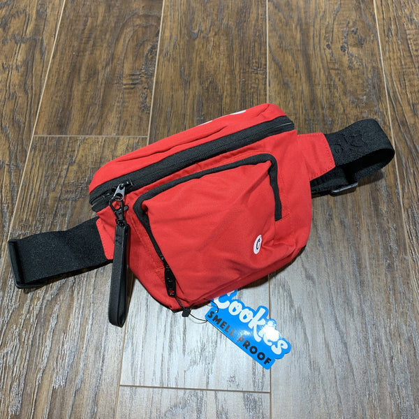Cookies Smell Proof Fanny Pack (Red)