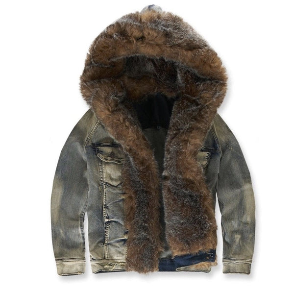 Jordan Craig Durango Hooded Denim Jacket (Bison)