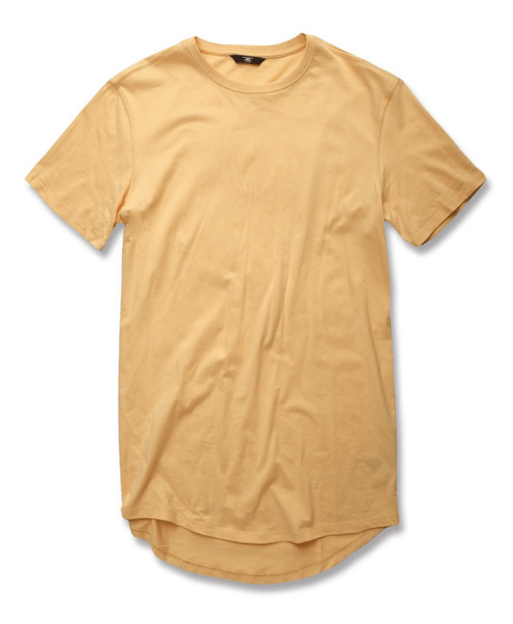JORDAN CRAIG SCALLOP T-SHIRT - WHEAT