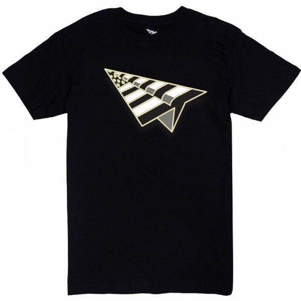 Paper Planes Flag Tee (Black/Gold) 100930