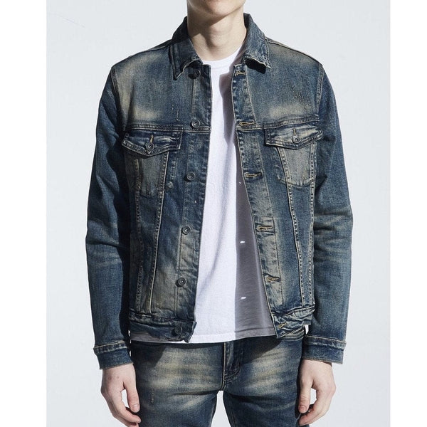 Crysp Bering Denim Jacket Indigo Dirty Wash