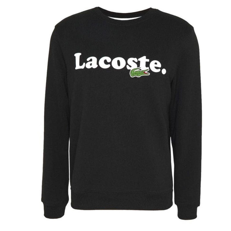 Lacoste Crocodile Branded Fleece Sweatshirt (Black) SH2173